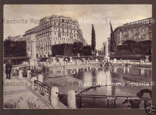 Descrizione: Piazza Mazzini Anno: (?) Fotografo: (?) Fonte: (?) Aggiunta Da  Roma Sparita