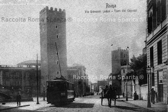 Via Giovanni Lanza - Torre dei Capocci