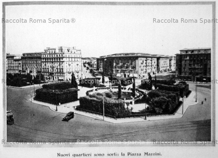 Descrizione: Veduta Di Pazza Mazzini Nel 1933. Anno: 1933. Fotografo:  Fonte: Volume U201cRoma Nel Decennaleu201d A Cura Dellu0027ENIT E Delle Ferrovie Dello  Stato