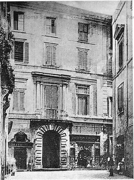 Roma sparita via giulio romano casa di pietro da cortona for Disegni semplici della casa del bungalow