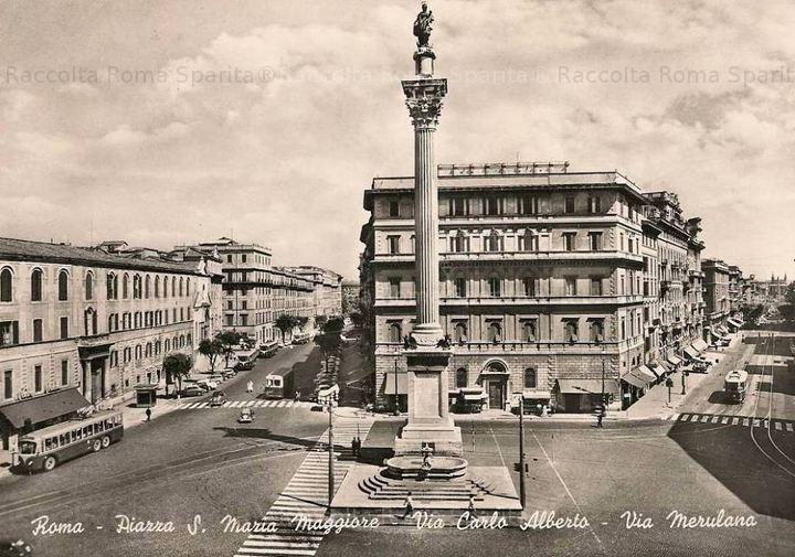 Piazza di Santa Maria Maggiore, via Carlo Alberto e via Merulana.