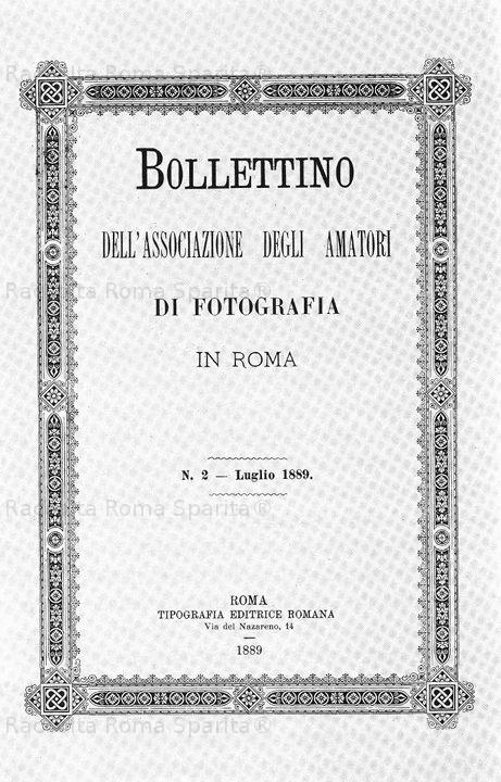 Bollettino dell'Associazione degli Amatori di Fotografia in Roma