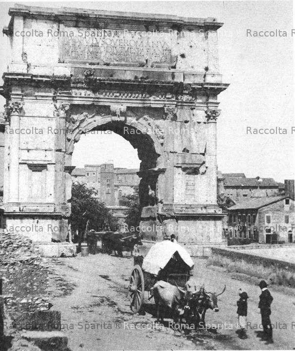 Carri trainati da buoi all'Arco di Tito