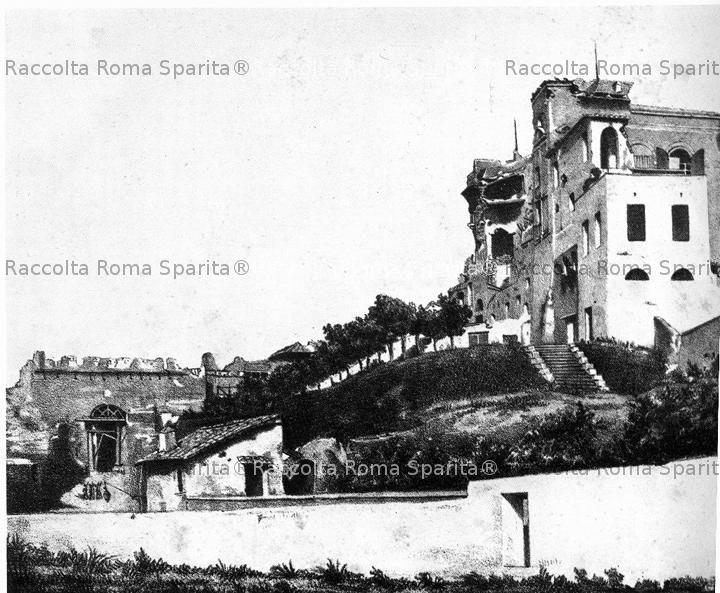Casino Savorelli e parte interna della porta San Pancrazio