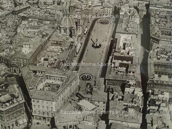 Vista aerea della zona di piazza Navona