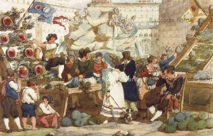 Il cocomeraro a Piazza Navona