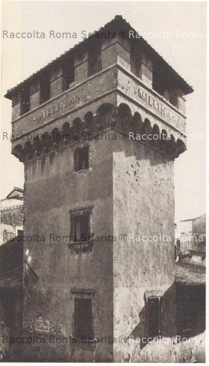 Via di Tor Millina e la torre dei Mellini