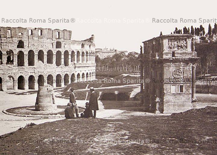 Colosseo, Meta Sudans e Arco di Costantino