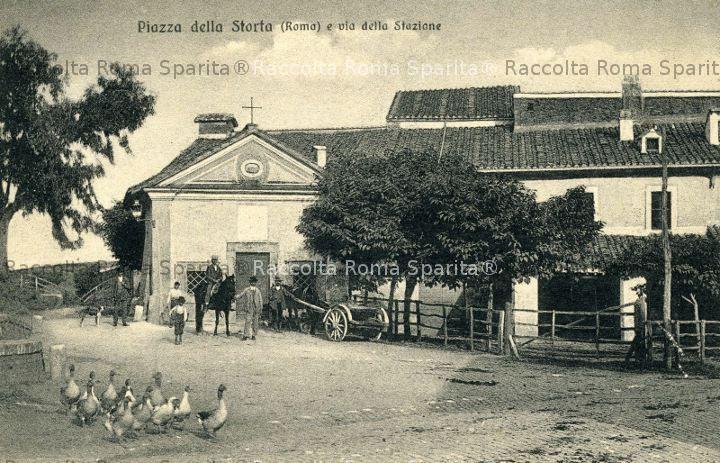 Piazza della Visione (all'epoca piazza della Storta)