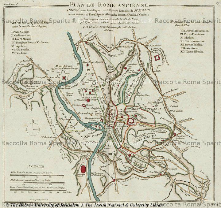 Cartina D Roma.Mappa Di Roma Antica