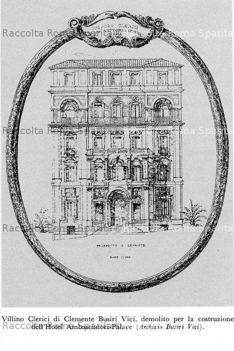 Roma sparita villino clerici for Piccoli piani di costruzione dell hotel