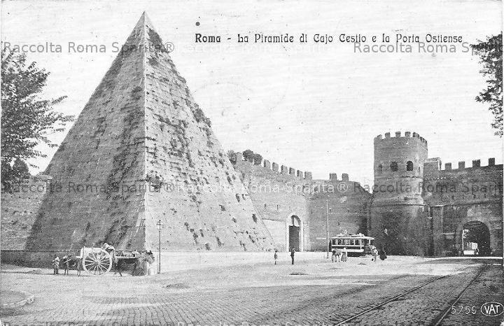 Piramide Cestia e Porta Ostiense