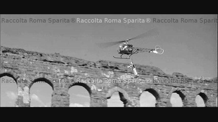Elicottero Quadraro : Roma sparita parco degli acquedotti