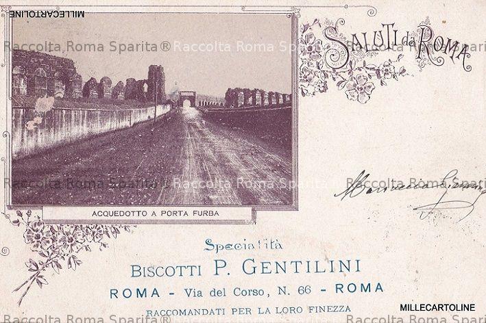 Roma sparita acquedotto a porta furba biscotti gentilini - Hotel roma porta furba ...