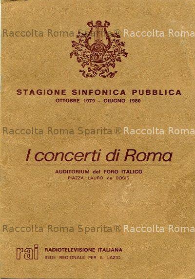 Calendario Anno 1980.Roma Sparita Calendario Orchestra Sinfonica Rai