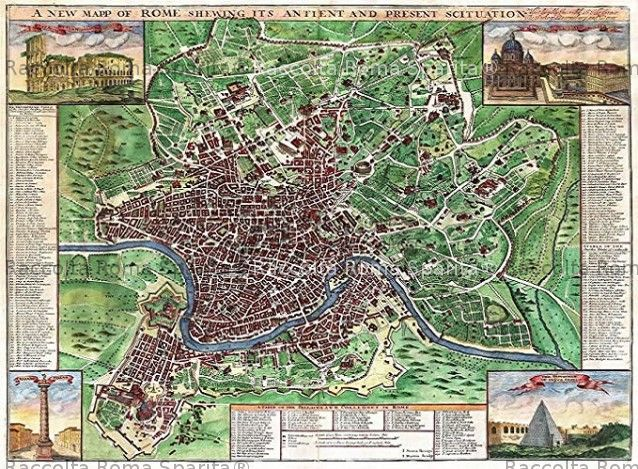 Cartina D Roma.Roma Sparita Mappa Di Roma