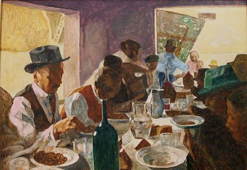 famiglia-a-tavola-dipinto-a-olio