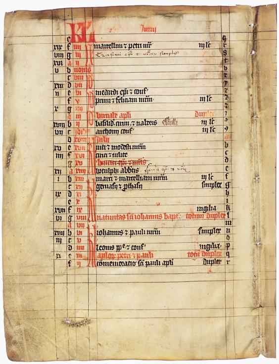 Calendario dei Santi