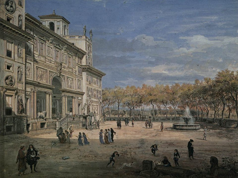Villa Medimci - Dipinto di Gaspar van Wittel